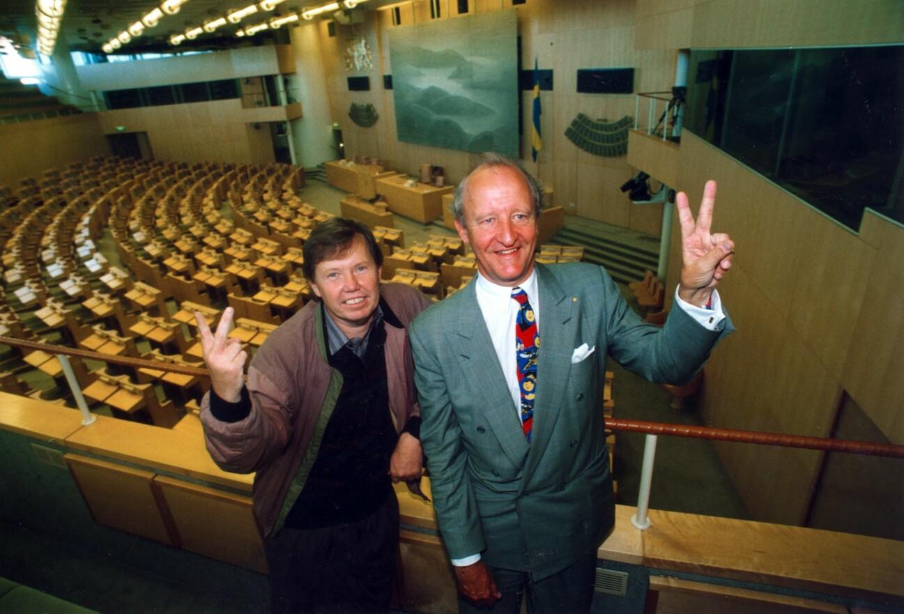 Bert Karlsson och Ian Wachtmeister.