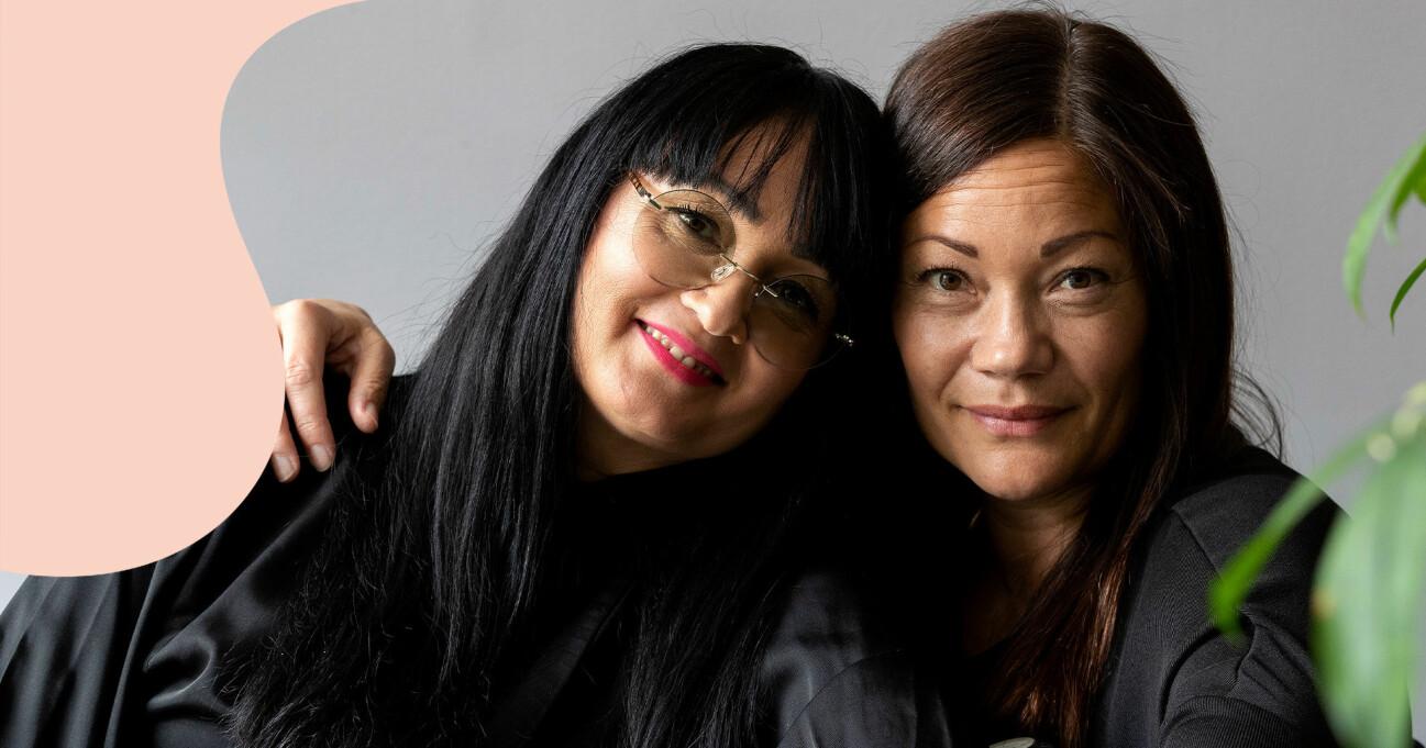 Systrarna Lotta Foo och Pernilla Foo i Örebro.