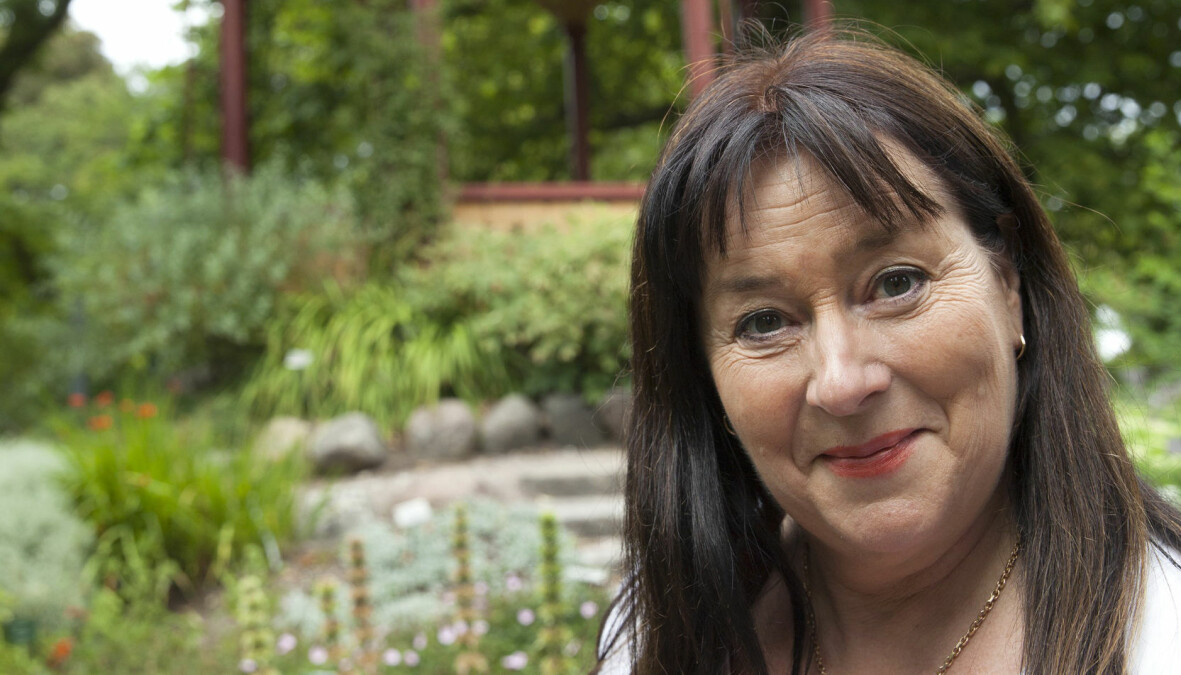Författaren Anna Jansson på Gotland.