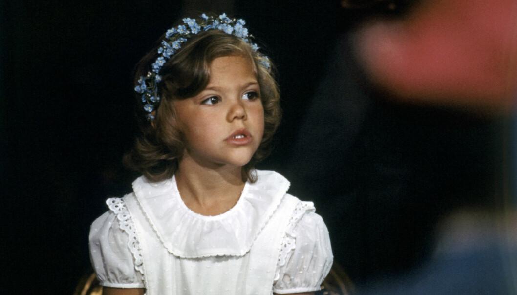 Kronprinsessan Victoria på prinsessan Madeleines dop.