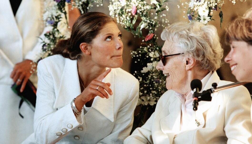 Kronprinsessan Victoria med Astrid Lindgren