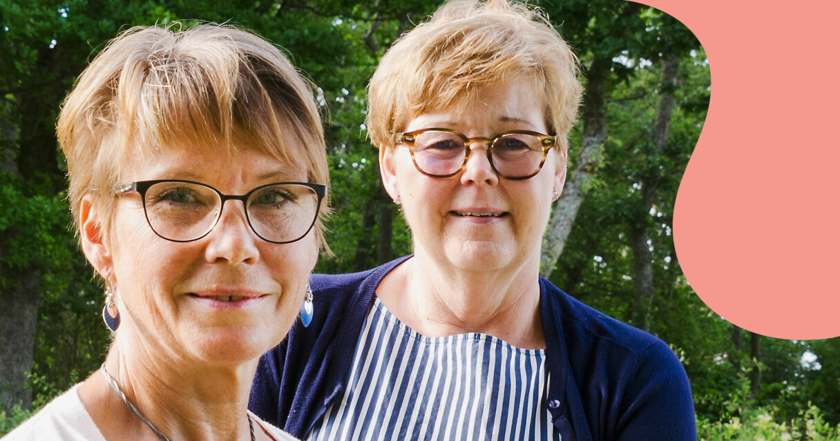 Vännerna Ann-Christin Andersson och Berit Eriksson som har varit ett stöd för varandra under många år.