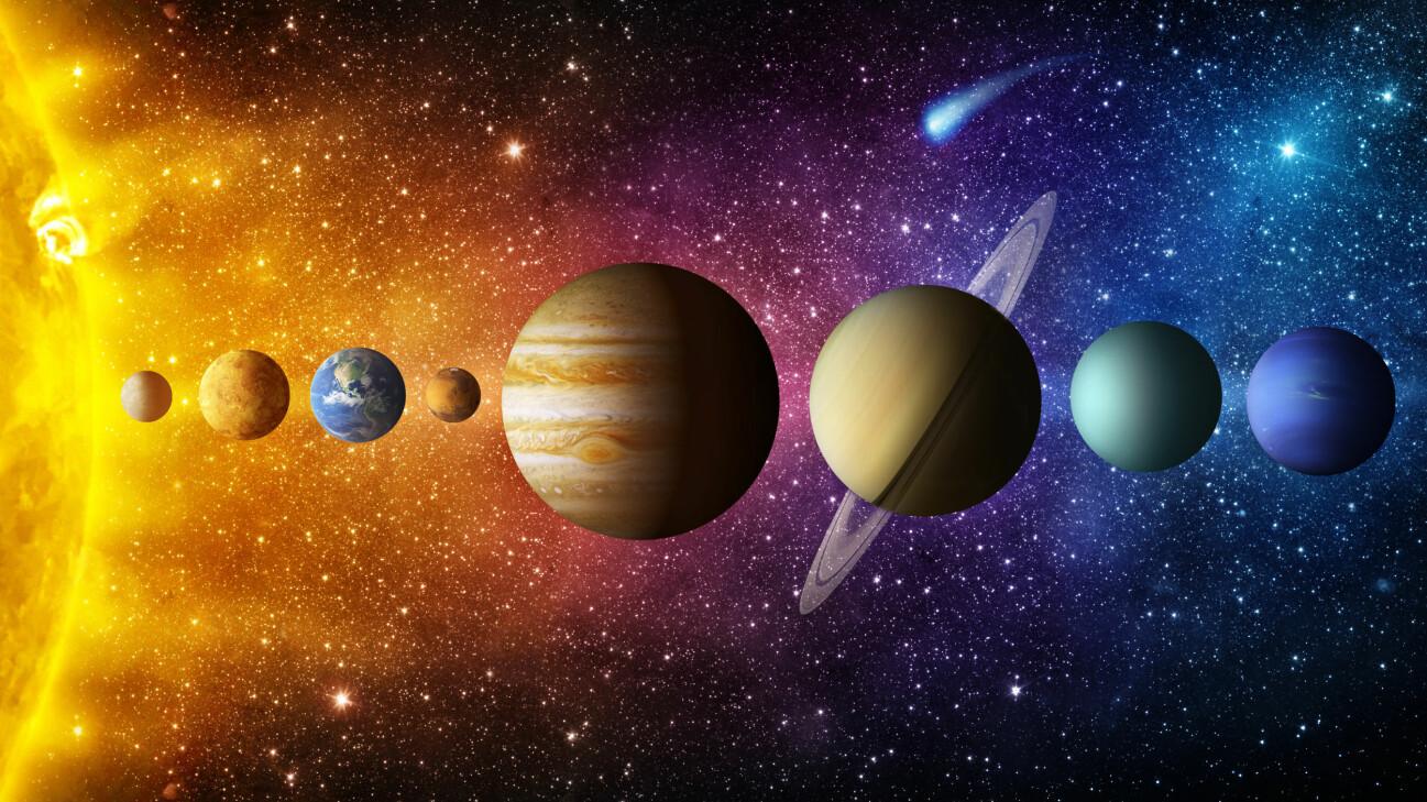 Solen och planeterna.