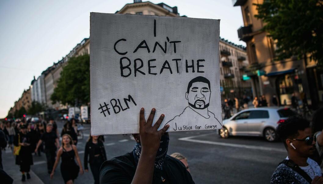 Black Lives Matter demonstration i Stockholm
