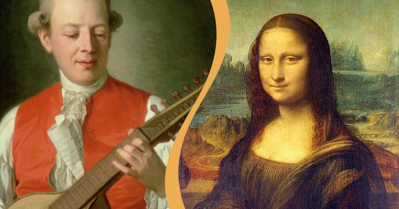 Carl Michael Bellman och Mona Lisa.