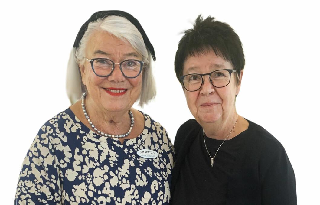 Pia Ganmark, sjukvårdskurator och psykoterapeut, och Britta Stenstam, specialistläkare i onkologi