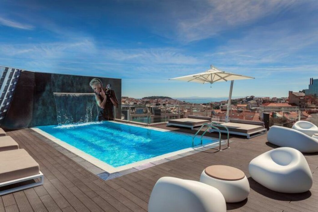 takpool hotell lissabon