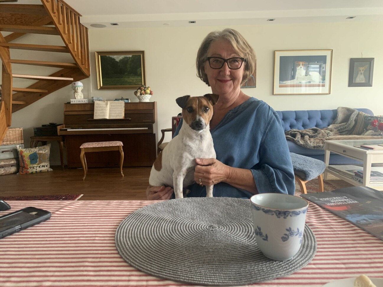 Ewa-Gun Westford och hunden Allan