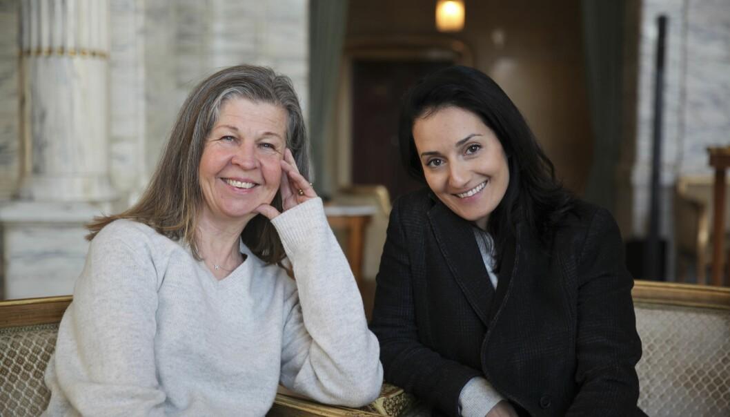 Ingela Olsson och Marall Nasiri på Dramaten.