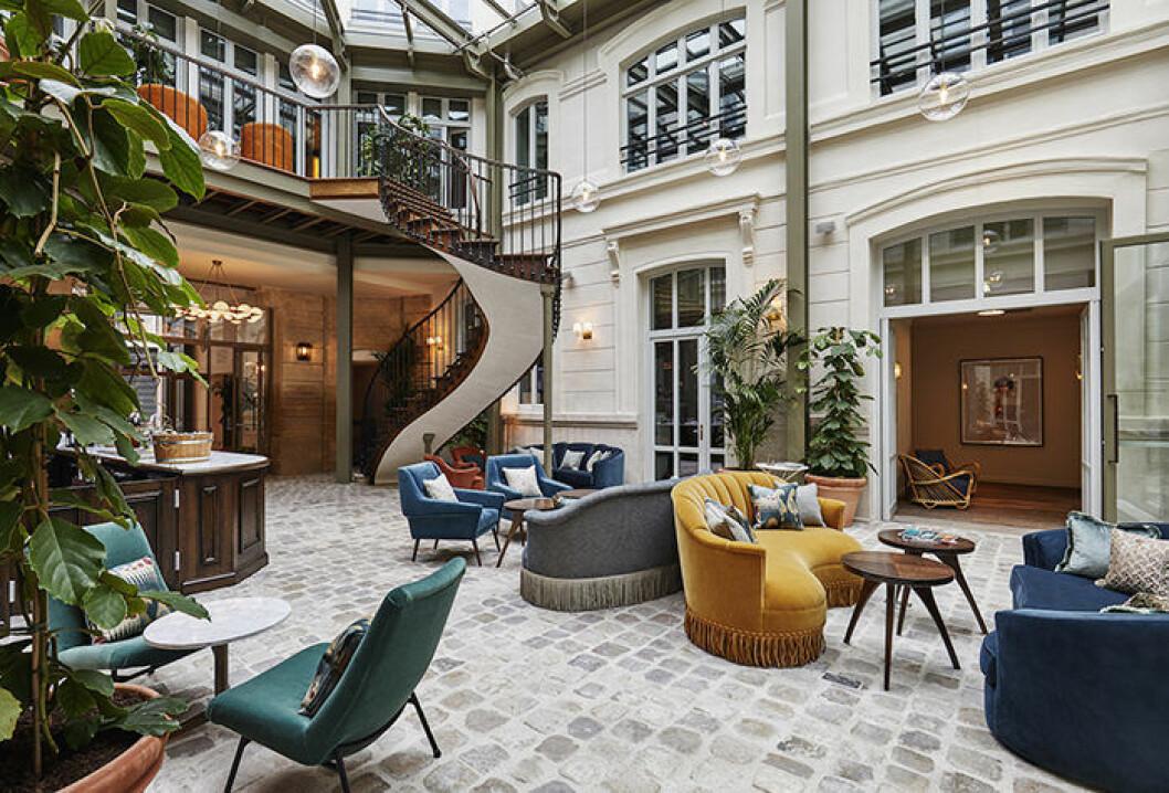 Innergården på hotellet The Hoxton i Paris