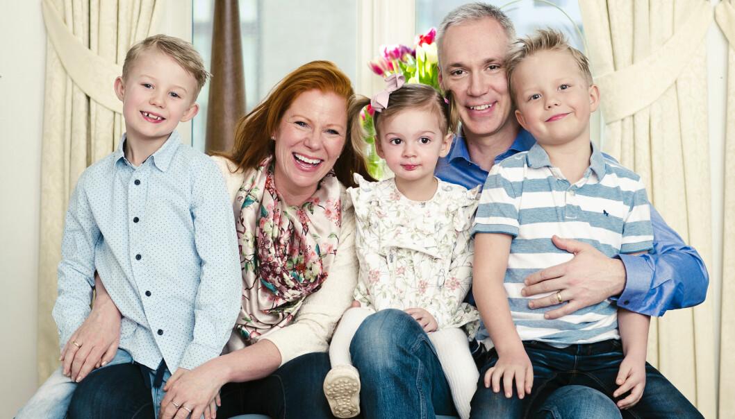 Jannike med familjen