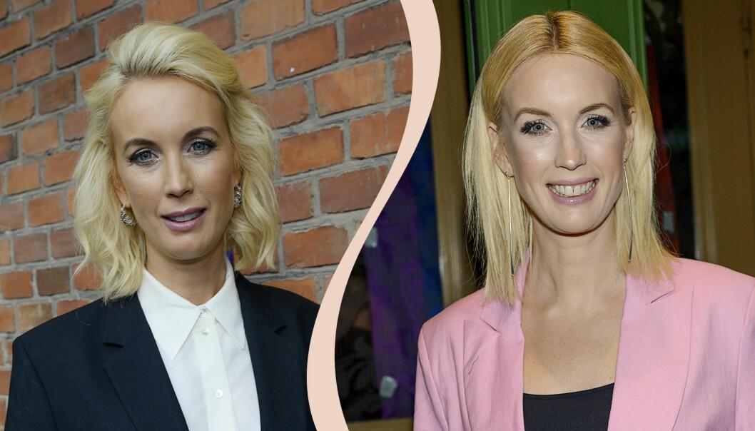 Jenny Strömstedt så som vi är vana att se henne – i axellångt, blont hår. Nu har hon klippt av sig håret.