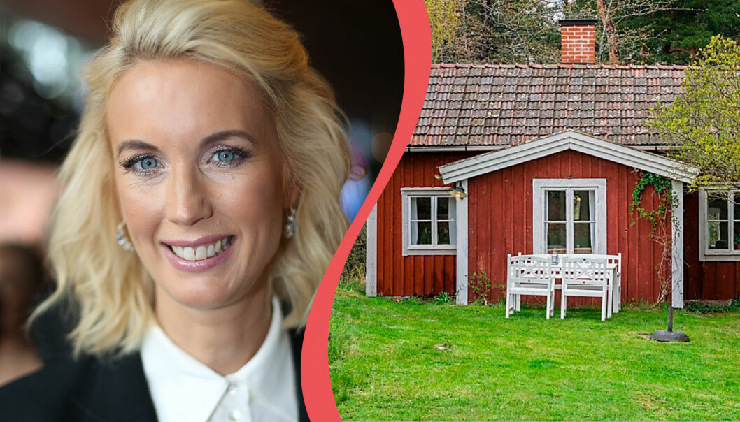 Jenny Strömstedt säljer sitt röda torp utanför Oxelösund.