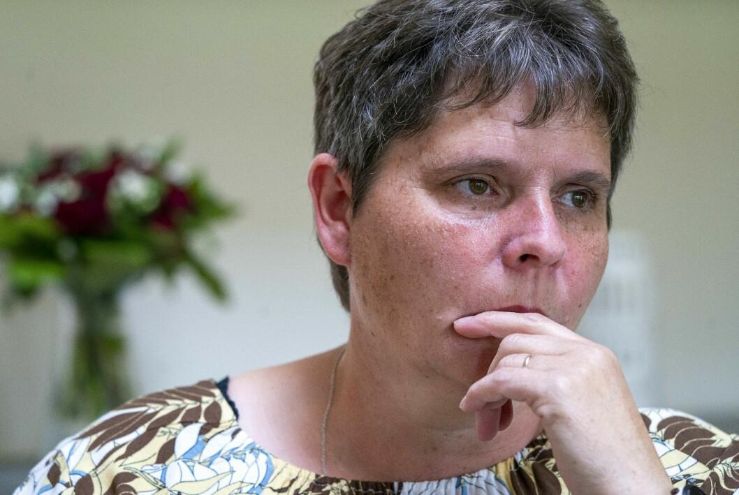 Sorgen efter dottern Helena är tung för Jette Pedersen.