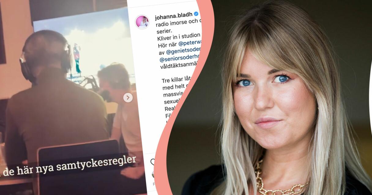 Johanna Bladh filmade när Peter Wahlbeck raljerade i radioprogrammet Gott snack.