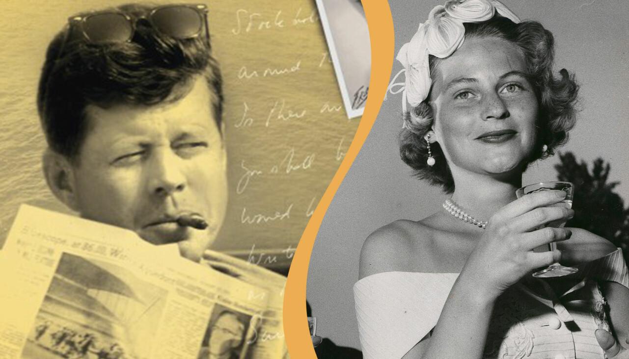 John F Kennedy och Gunilla von Post.