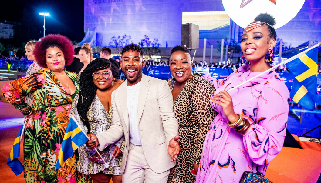 The Mamas med John Lundvik i Eurovision Song Contest.