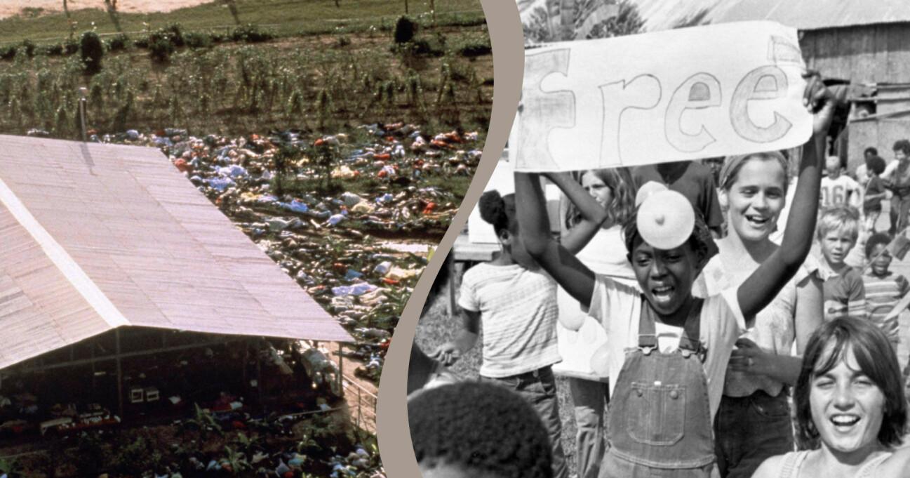 Jonestown-massakern och de boende kring Jim Jones Folkets tempel-rörelse.