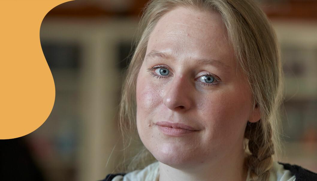 Jonna Sohlmér tittar in i kameran