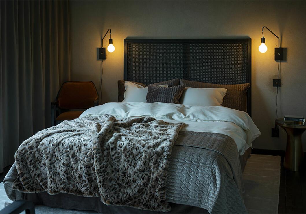 Mysigt sovrum i vinter på Jotex
