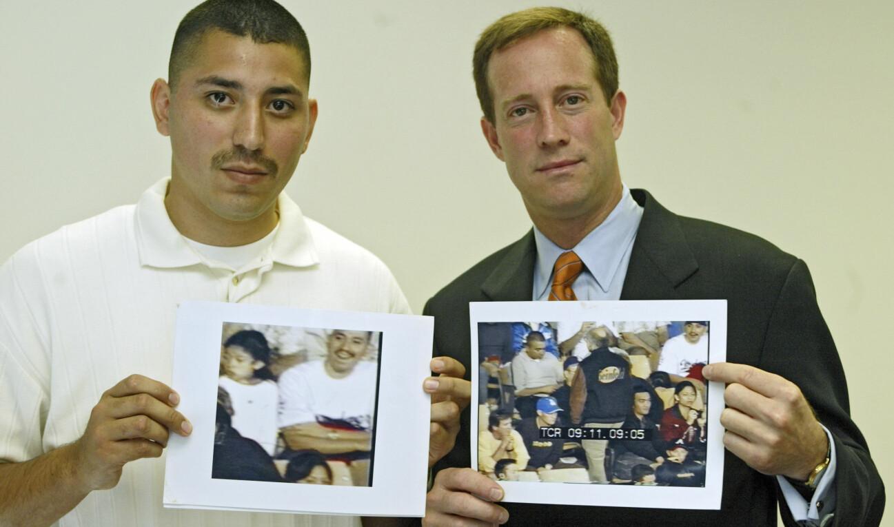 Juan Catalan friades från mordmisstankar tack vare inspelningsbilder från tv-serien Simma lugnt, Larry