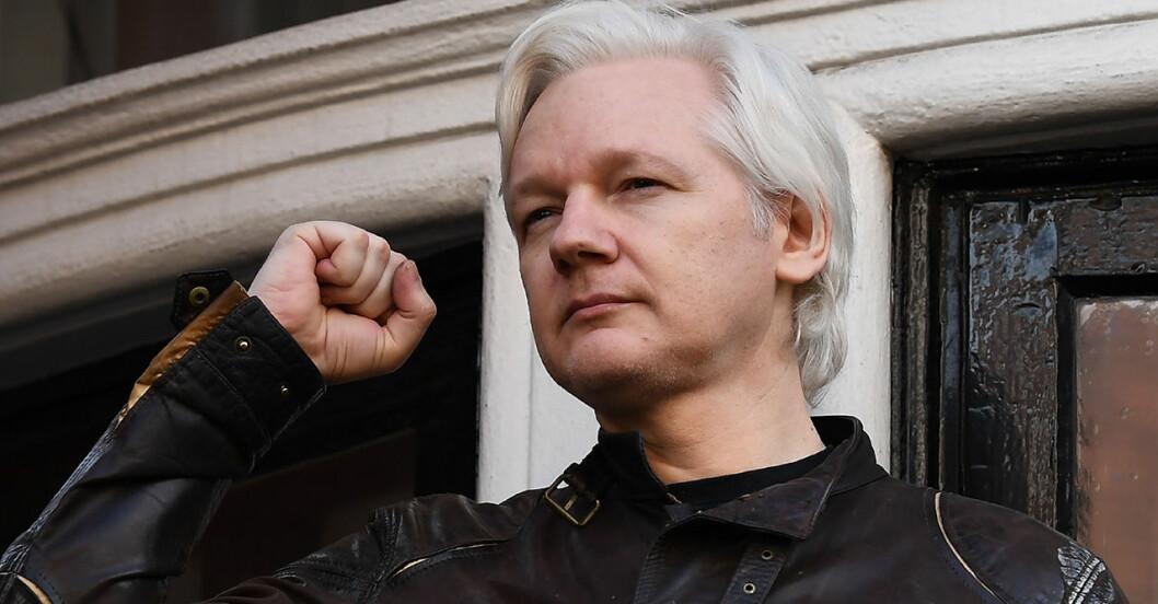 Julian Assange i Stockholm 2010.