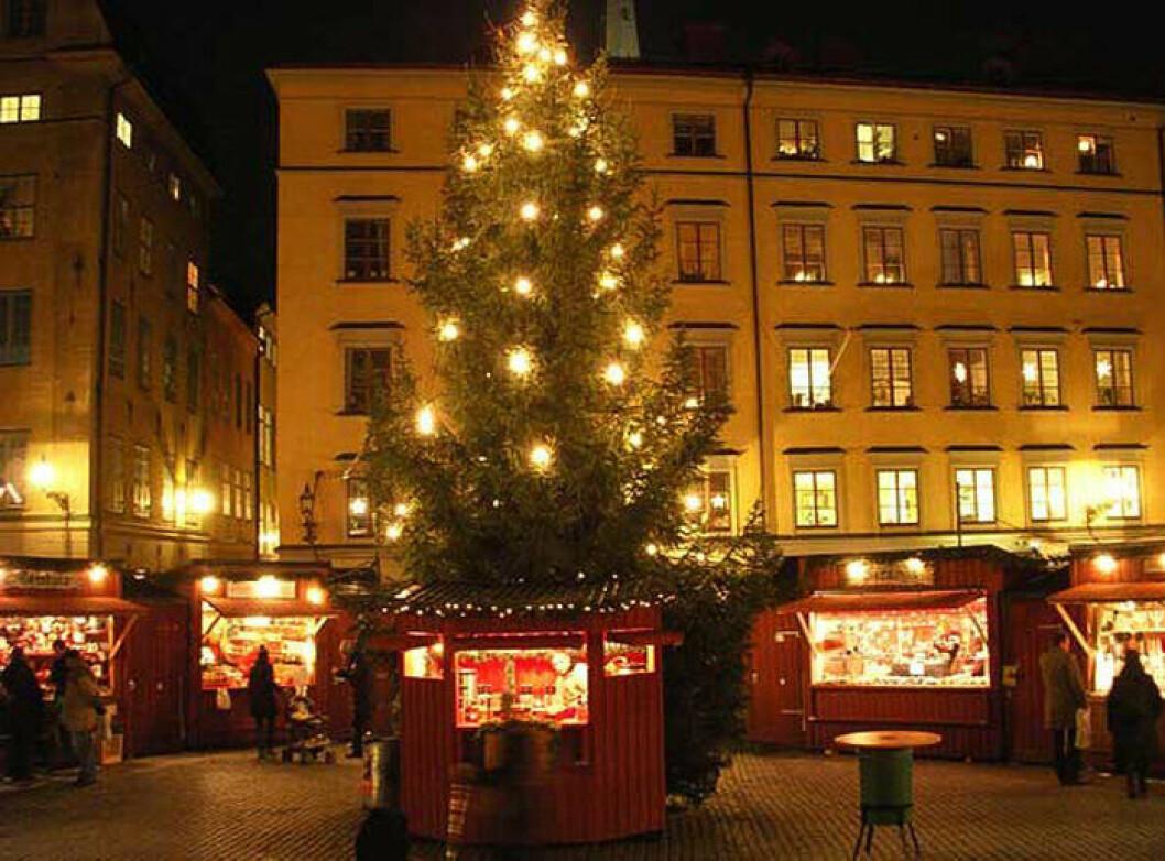julmarknad på Stortorget.