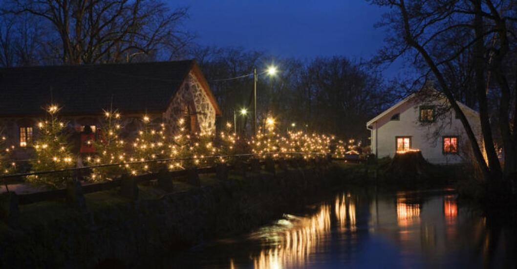 julmarknad på Huseby