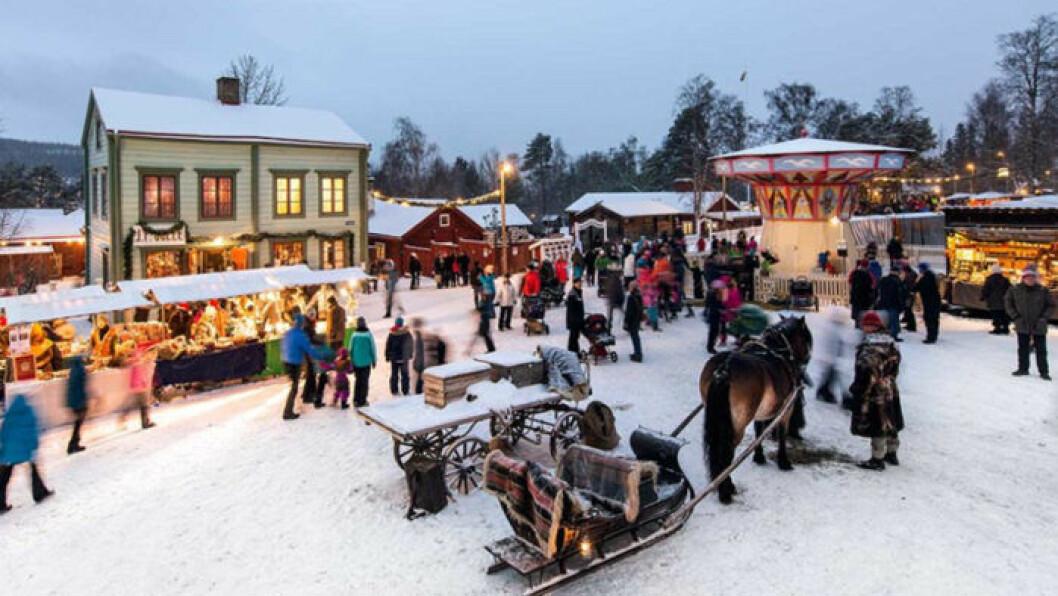 Julmarknad på Jamtli.