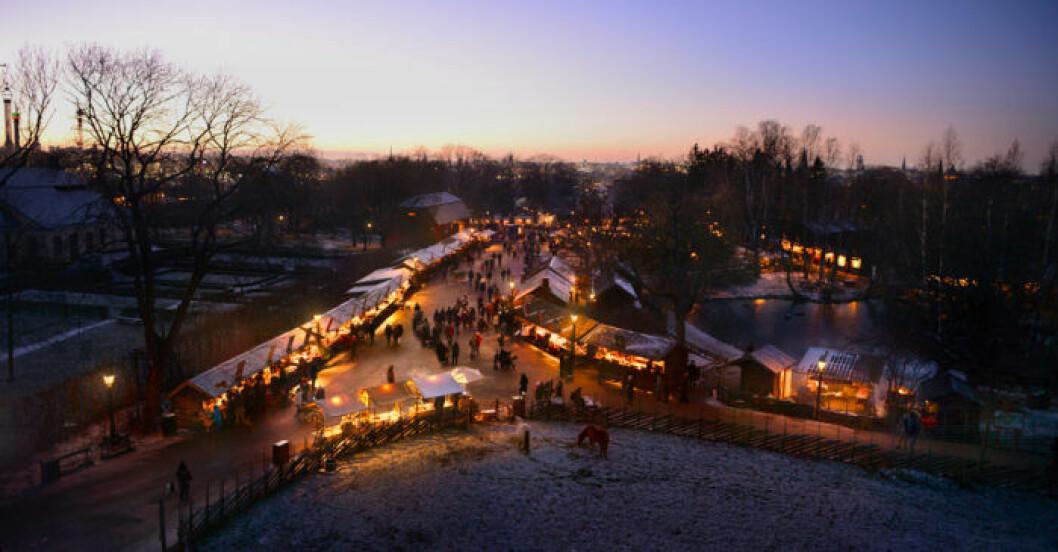 julmarknad på Skansen.