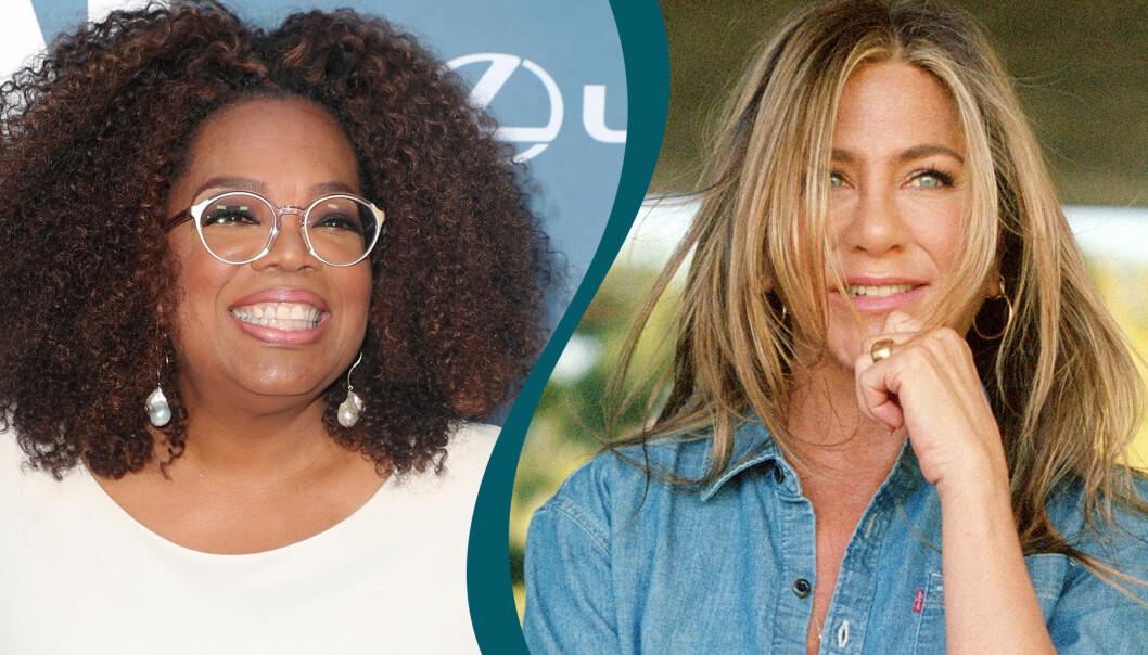 Kollage av Oprah och Jennifer Aniston som både valt att inte skaffa barn