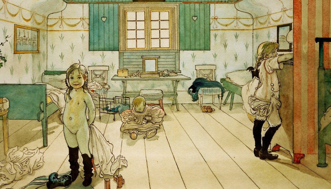 Carl Larsson-gården målad av Carl Larsson
