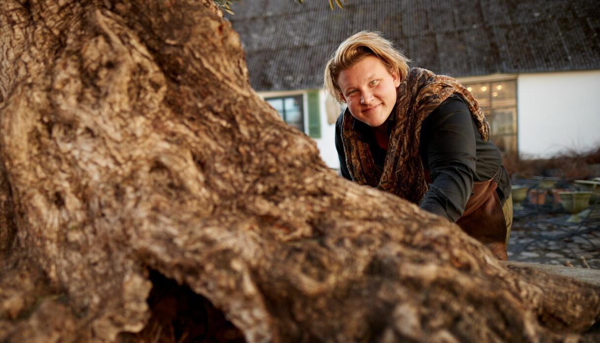 Karl Fredrik Gustafsson som tillsammans med gården Eklaholm är huvudpersonen i Karl Fredrik på Österlen i TV4.
