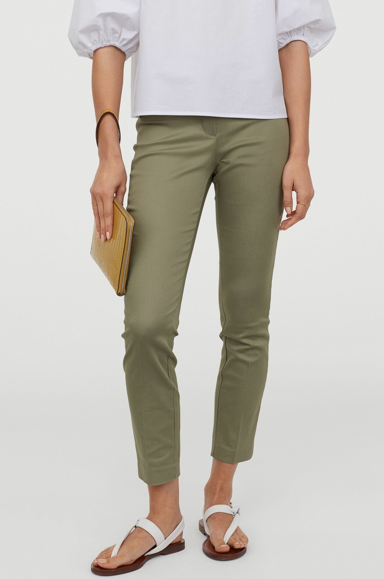 Khakigröna slacks, från H&M