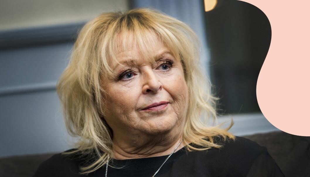 Kikki Danielsson fotograferad under Melodifestivalens första deltävling i Karlstad 2018.