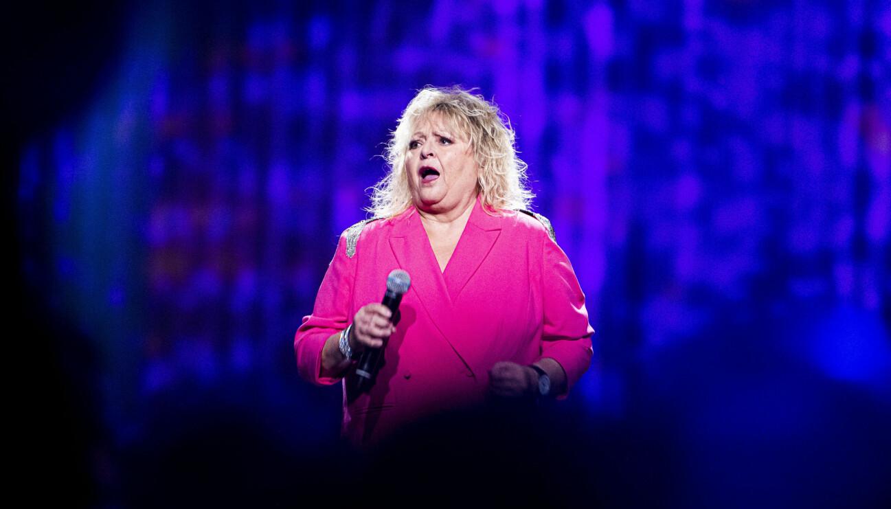 Kikki Danielsson på scen i Melodifestivalen innan coronakrisen bröt ut.