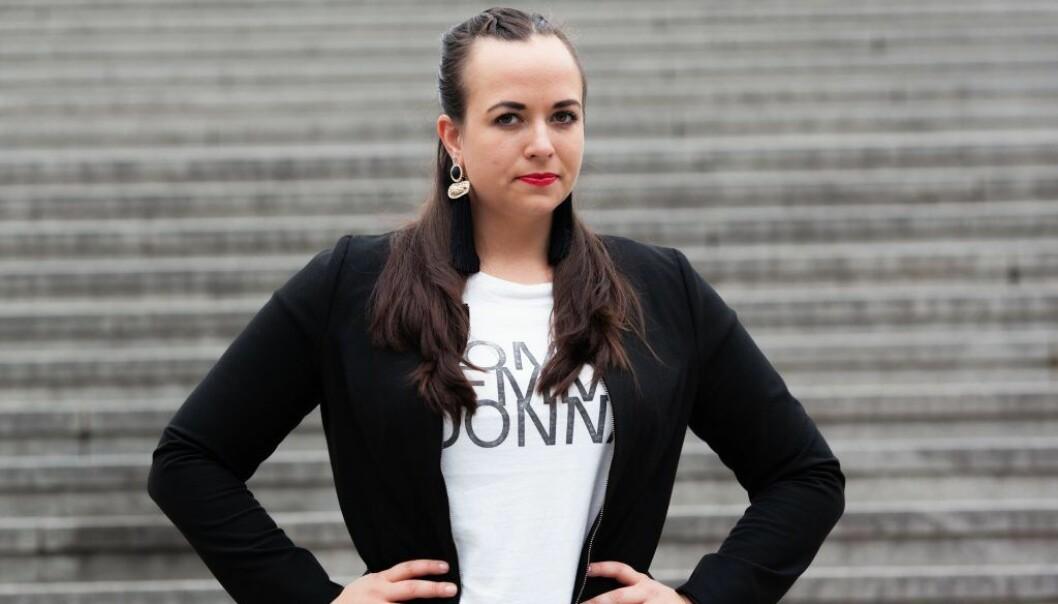 Klara-Maria Mach som driver företaget Entreprenorden.