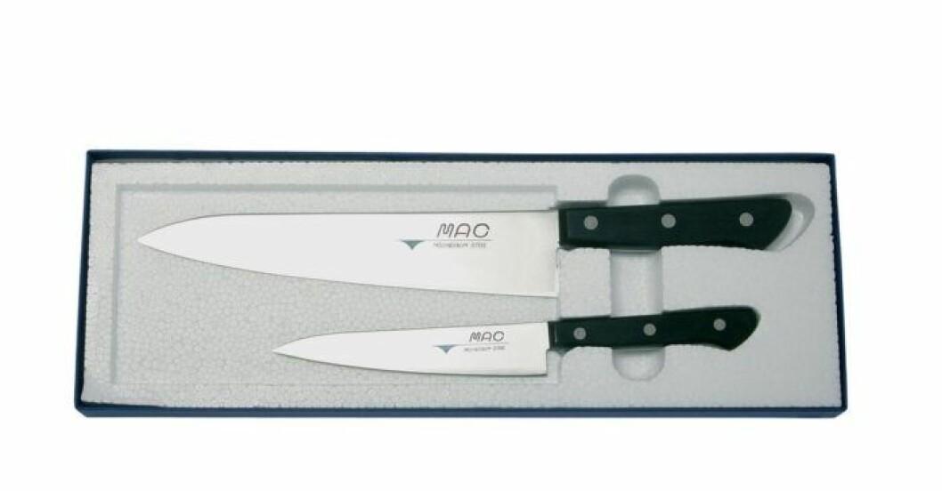 Knivset i rostfritt stål