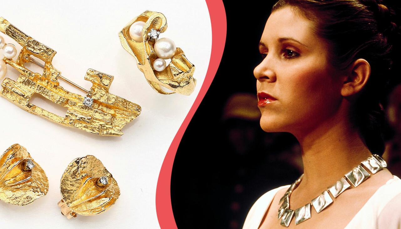 Kollage av Lapponia-smycken och prinsessan Leia från Star Wars.