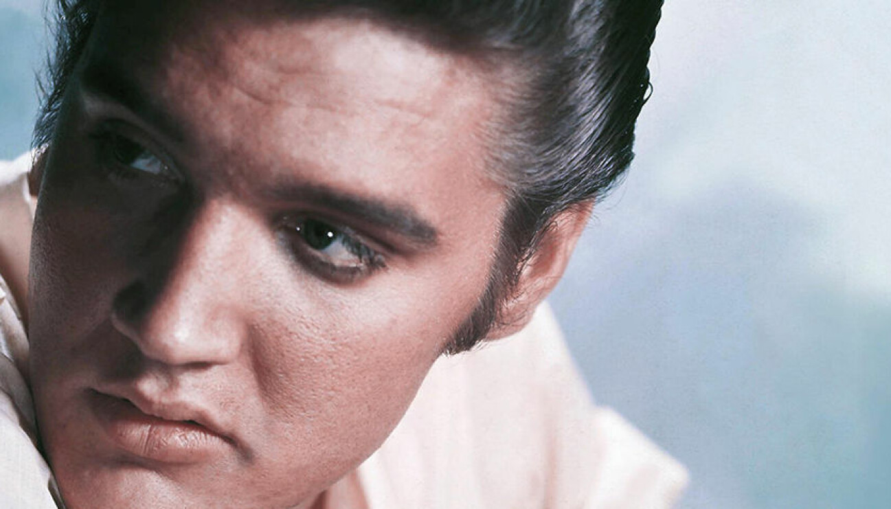 Kollage av Whitney Houston och Elvis Presley.