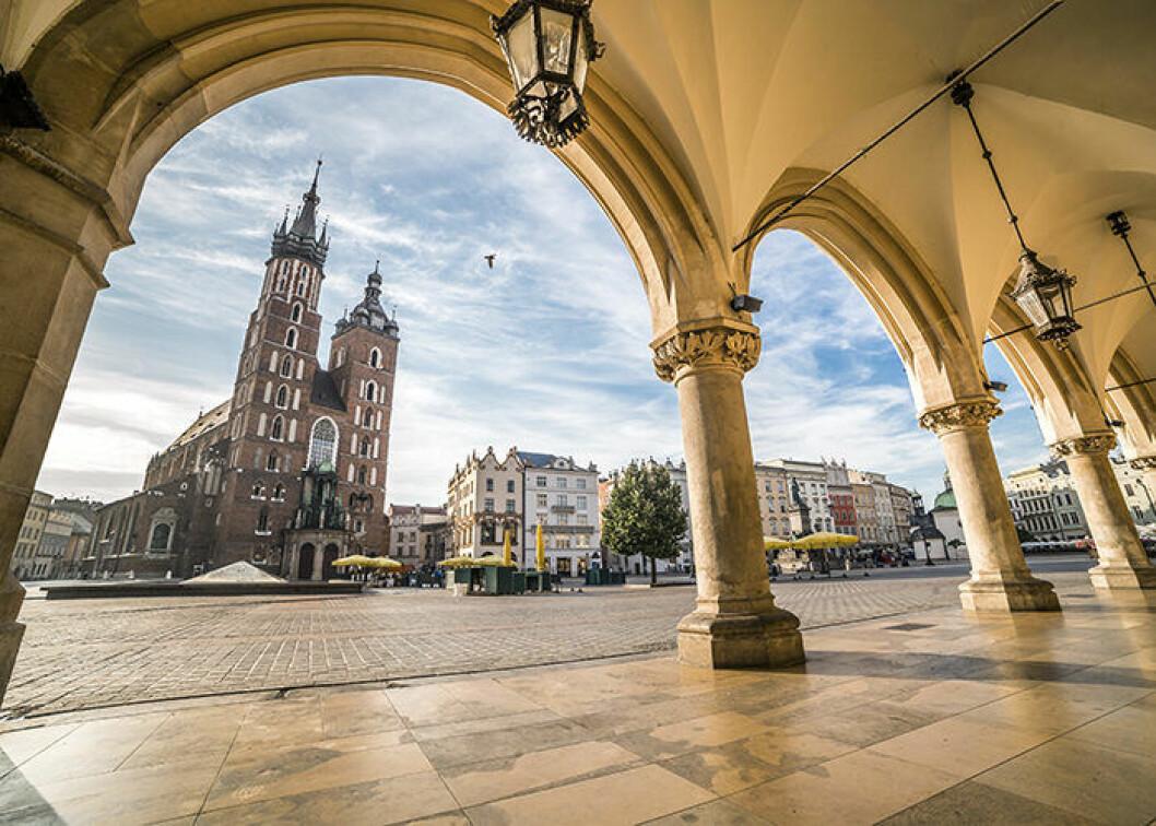 Krakow i Polen lockar många svenskar i år