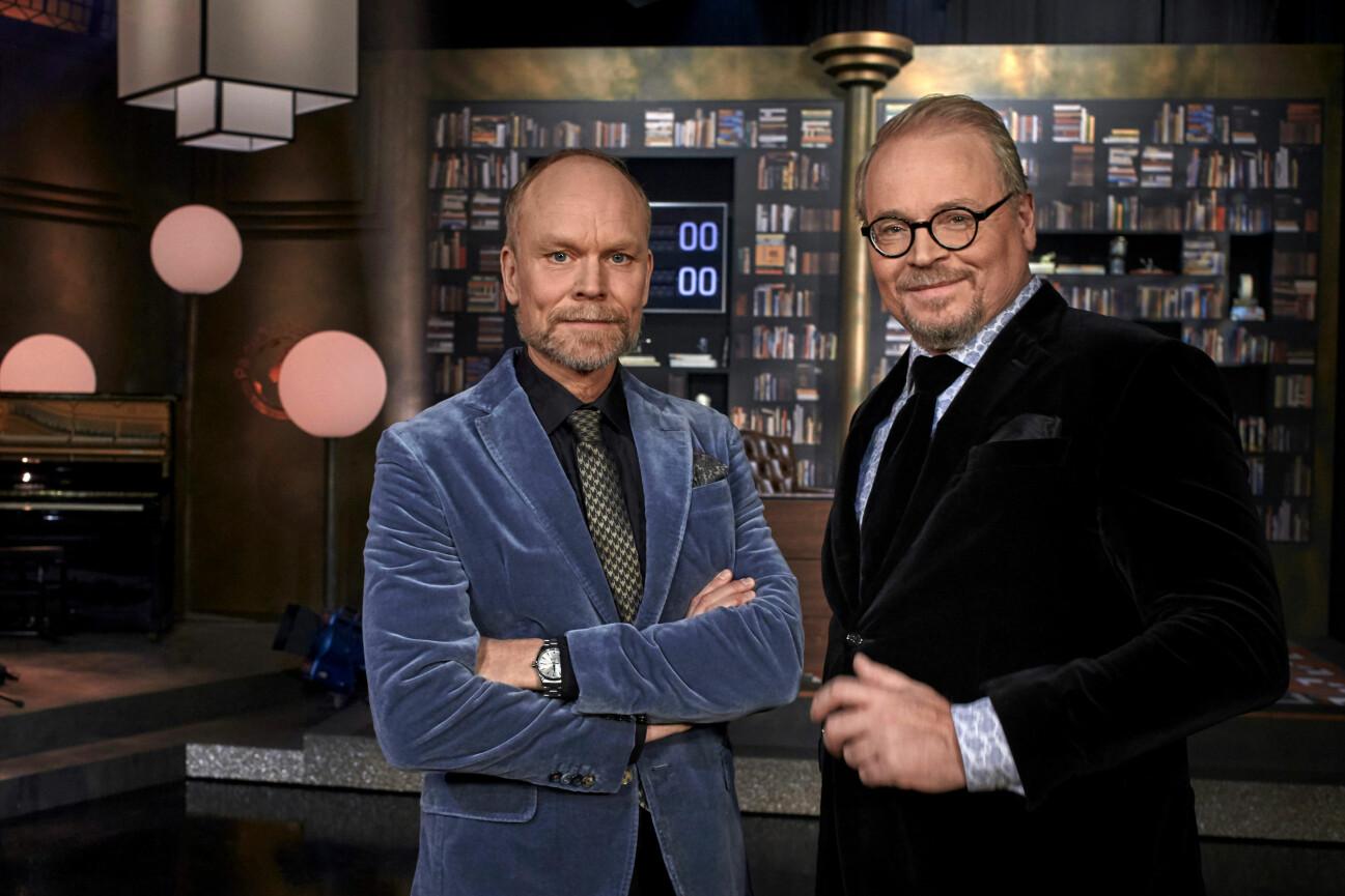 Kristian Luuk och Fredrik Lindström i På Spåret.