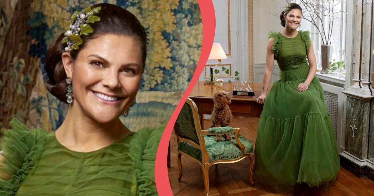 Kronprinsessan Victoria, här med hunden Rio, har utsetts till Årets hetero av QX.