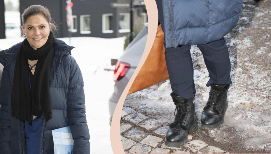 Kronprinsessan Victoria på vintern.