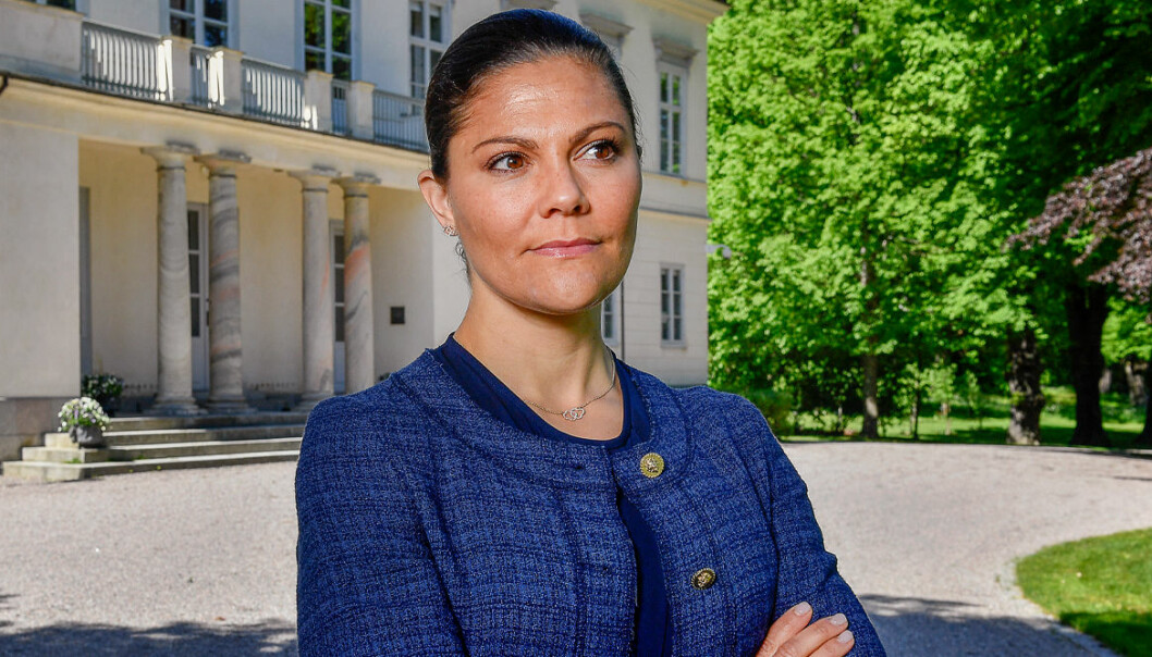 Kronprinsessan Victoria som är vän med norska kronprinsessan Mette-Marit.