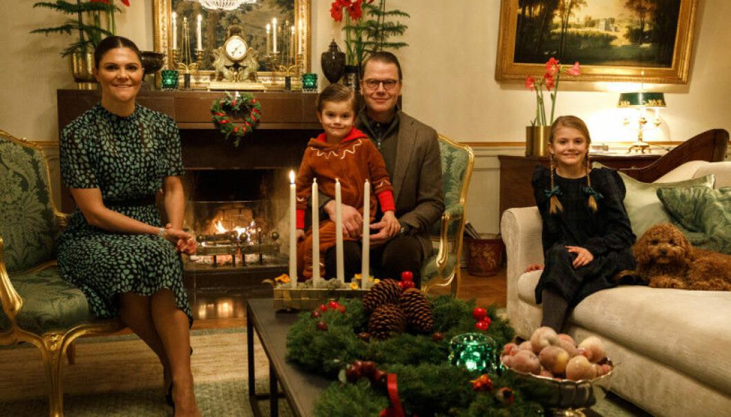 Kronprinsessfamiljen hemma på Haga inför jul.