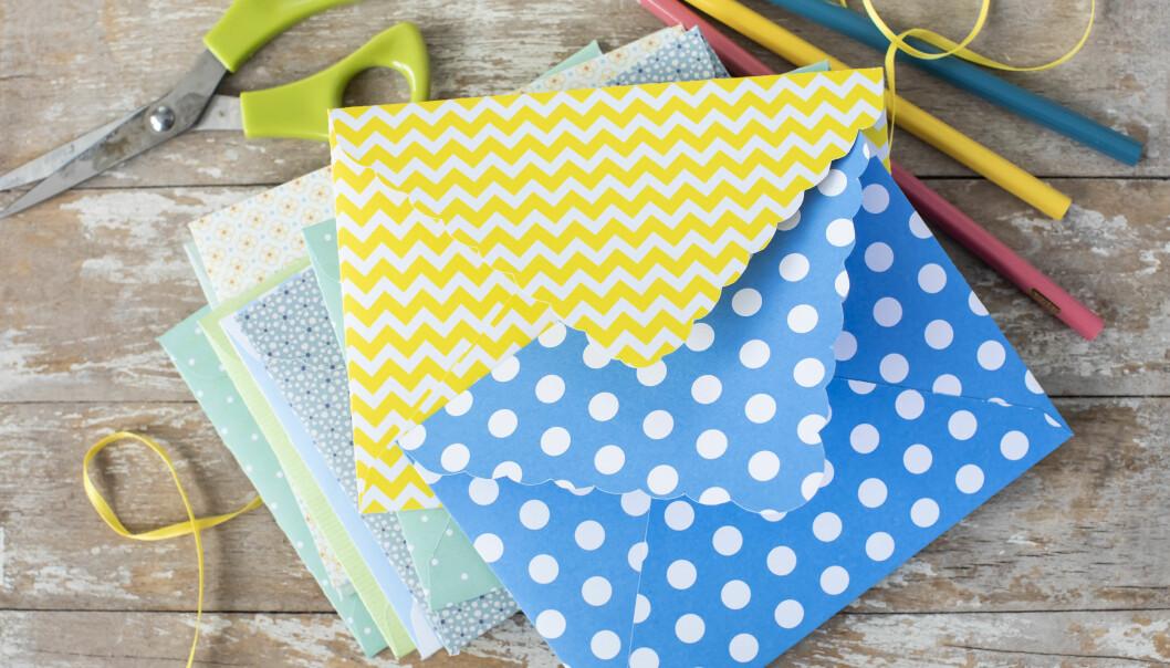 Gör vackra kuvert själv efter vårt mönster.