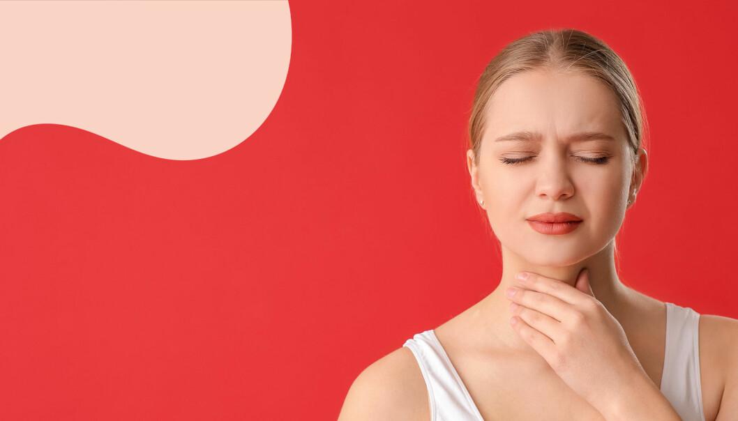 Kvinna med sköldkörtelproblem