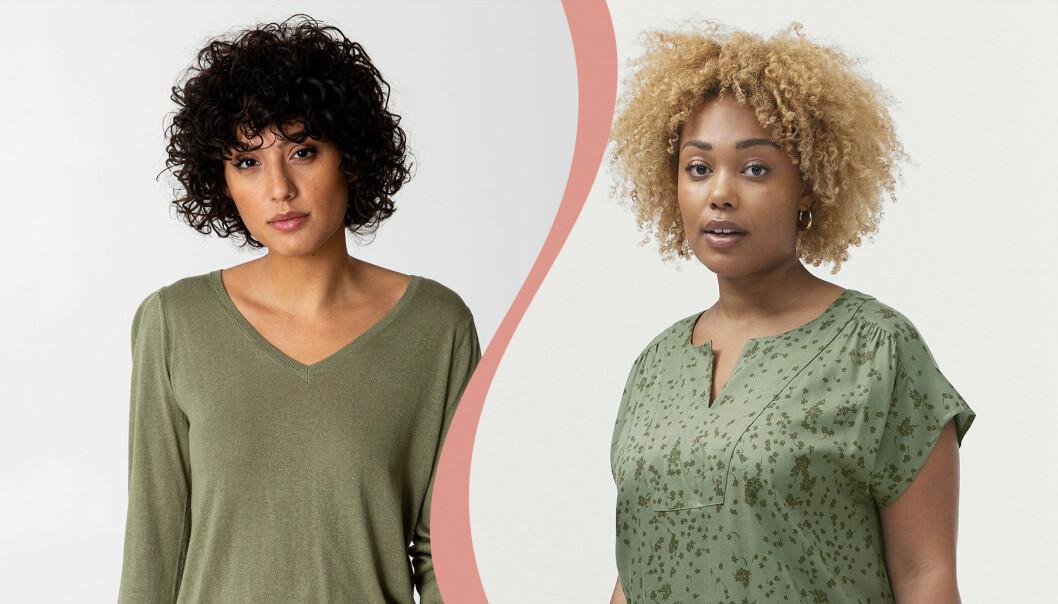 Kvinnor med gröna klädesplagg