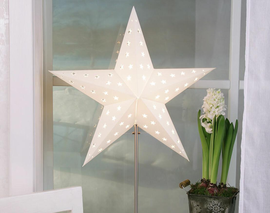 Lampa med stjärna.